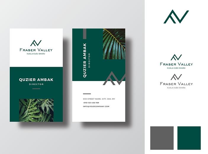 FRASER VALLEY business card sample -Sien