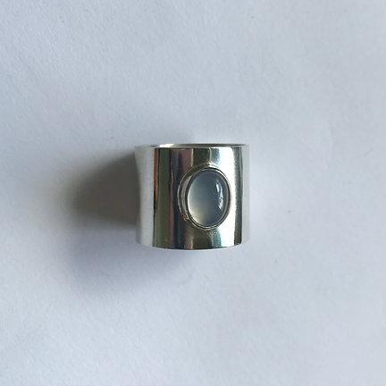 Blue Chalcedony Skin Ring