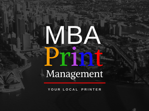 MBA PRINT MANAGEMENT - OPEN FOR BUSINESS
