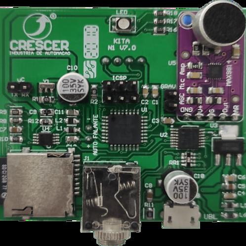 Placa detectora de ruído e emissora de sons