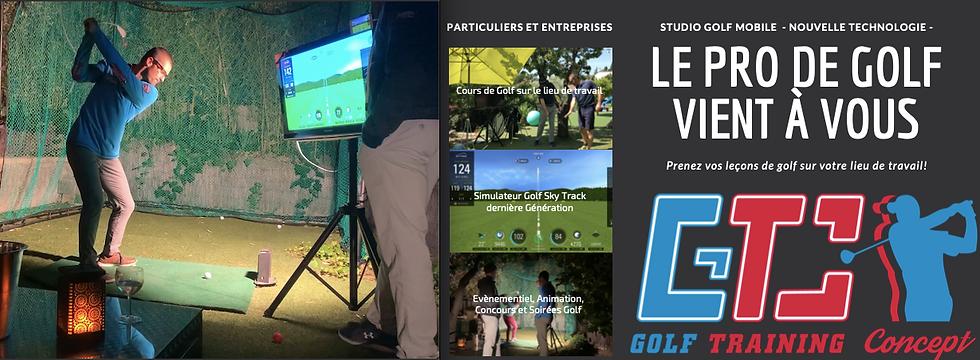 cours de golf a domicile, golf entreprise