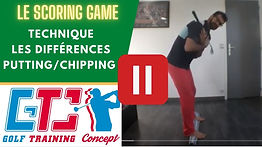 difference putting:chipping - Technique