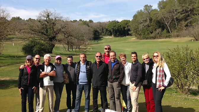 cours collectif golf training concept