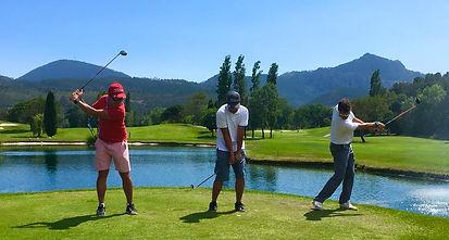 programme complet de cours de golf en groupe de 2 à 4 joueurs, sur le golf de Barbossi