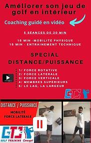 distance et puiisance au golf, exercices