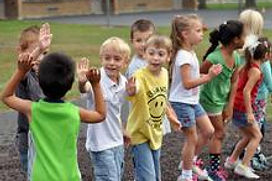 Huron students playing.