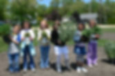 Huron Students Gardening