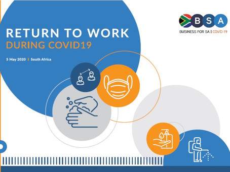 BUSINESS FOR SA  :  RETURN TO WORK DURING COVID-19