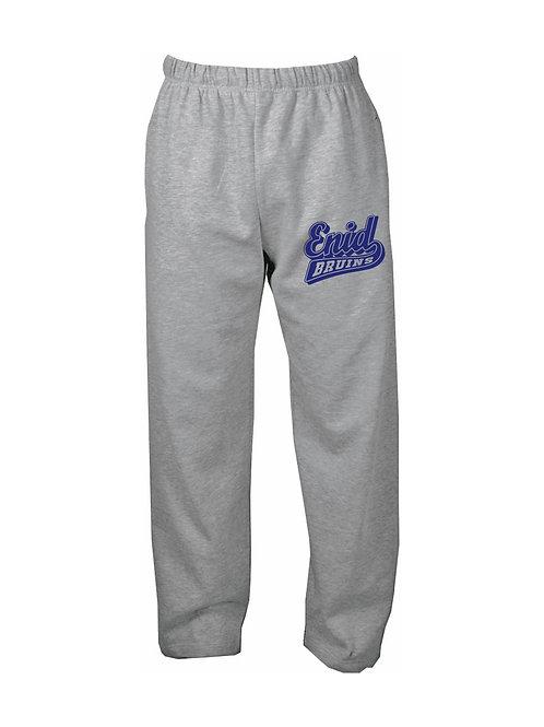 12 Open Bottom Sweatpants W/Pockets