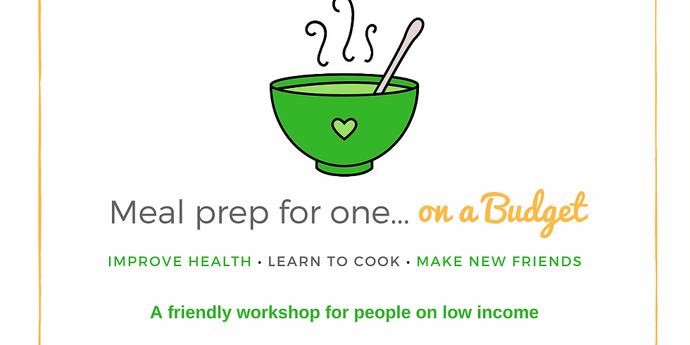 Meal prep for one...on a budget. A workshop for people on low income.