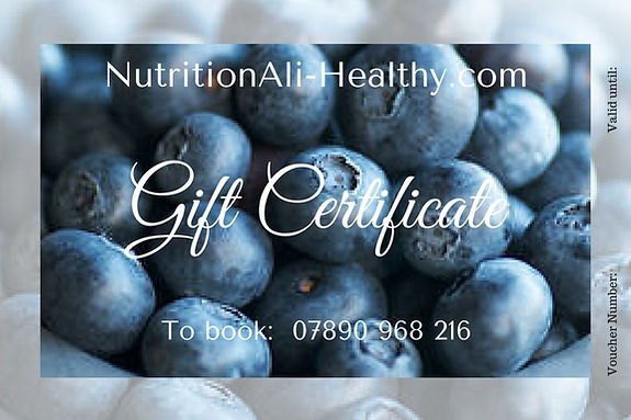 NutritionAli-Healthy Gift Voucher