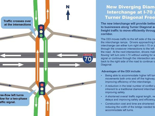 Diverging Diamond Interchange to Open September 8