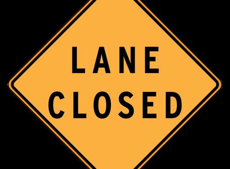 Lane closures for week of September 14-20
