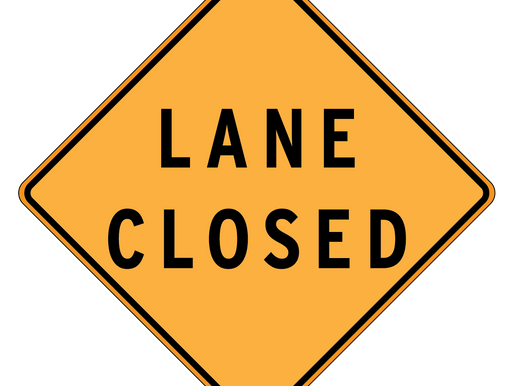 Right lane closed on I-70 at 78th Street Monday, April 13