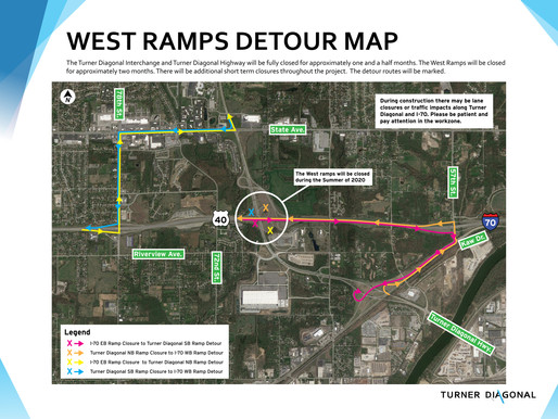 Long term ramp closures start this Friday, July 10