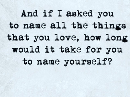 love yourself enough ...