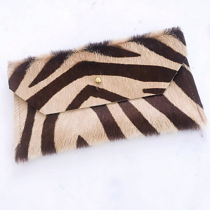Zebra Print Envelope Clutch