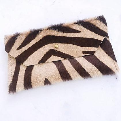 Zebra Print Envelope Clutch