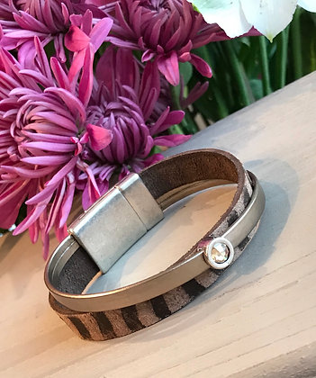Bronze and Brown Leather Bracelet