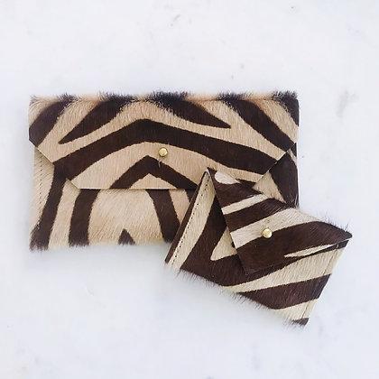 Zebra Print Card Wallet