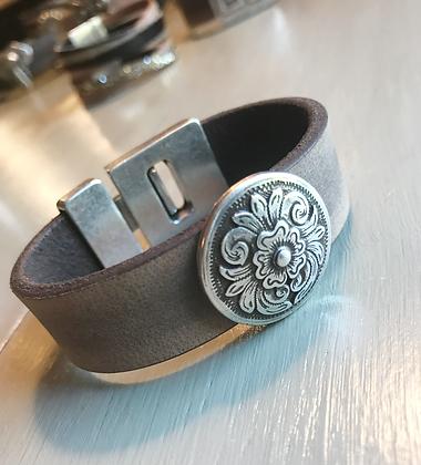 Natural Leather Cuff  110202