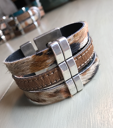 TriColor and Brown Hair Cuff. 82802