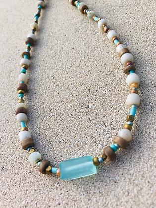Aqua Chalcedony Necklace 2292
