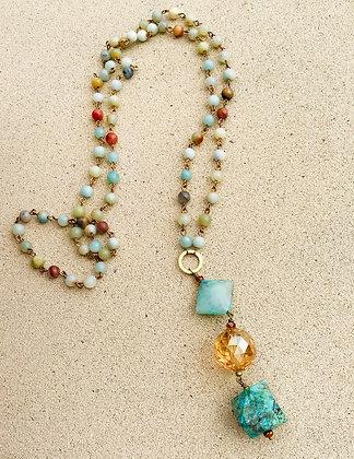 Amazonite & Chrysoprace Necklace