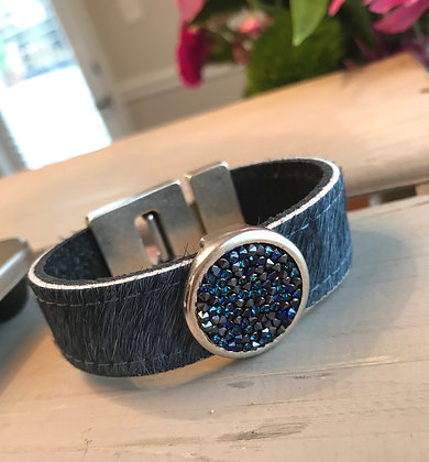 Blue Gray Hair & Swarovski Cuff