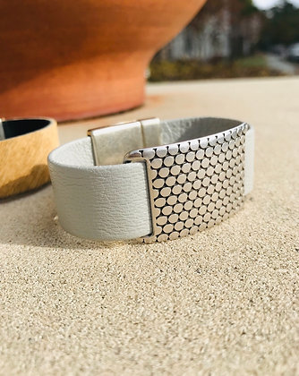 Light Gray & Dotted Silver