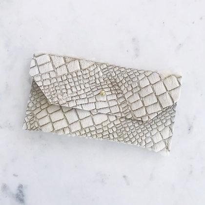 Glitter Alligator Envelope Clutch