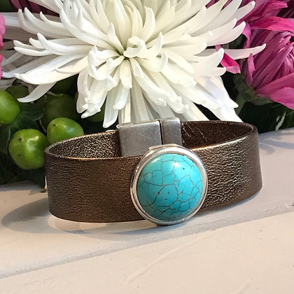 Metallic Bronze & Turquoise