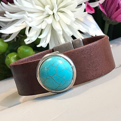 Saddle Brown & Turquoise