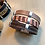 Thumbnail: Mixed Earthy Leather Cuff. 120201