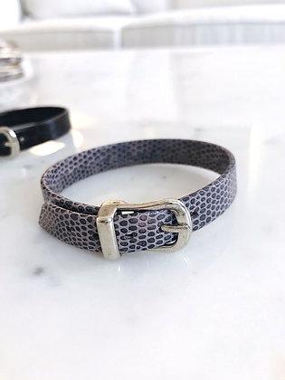 Gray Downtown Leather Bracelet