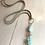 Thumbnail: Amazonite, Jasper & Leather Necklace 82915