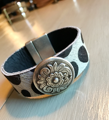 Spotted Hair & Concho Cuff 103110
