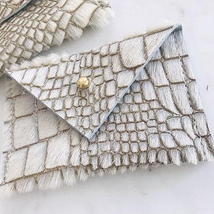 Glitter Alligator Card Wallet