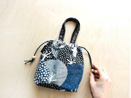 New pattern - Kiko drawstring bag