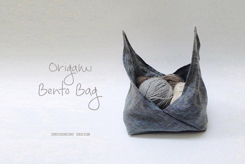 Origami bento bag by Indigobird Design