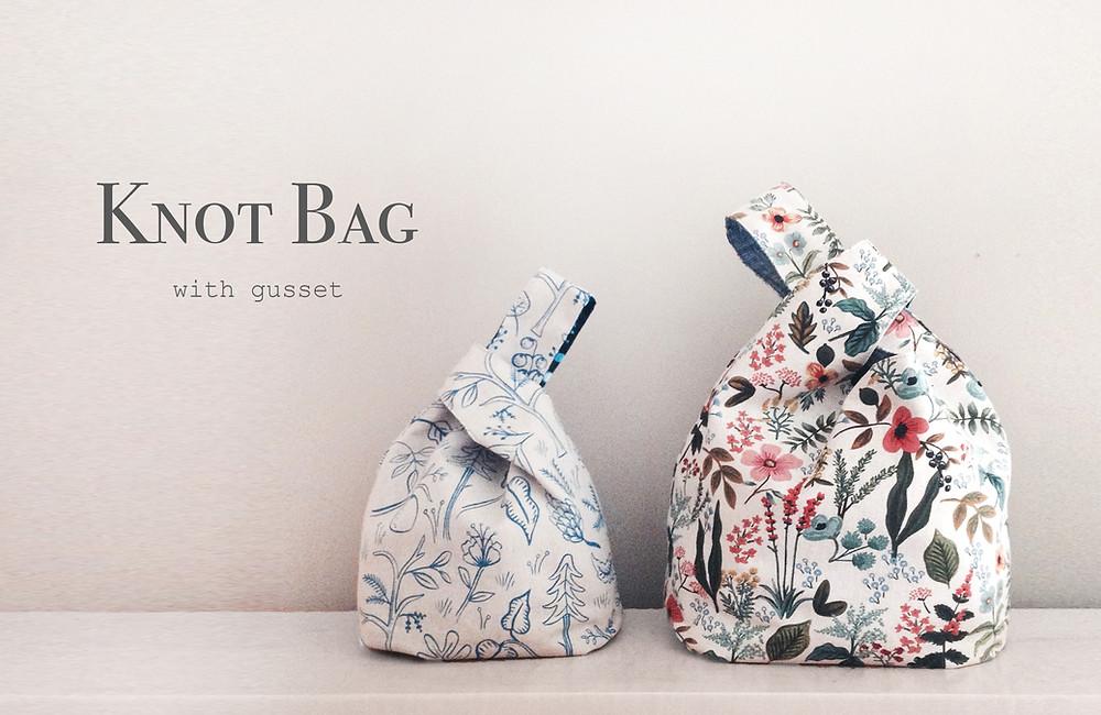 Knot Bag with Gusset 1 - Indigobird Design