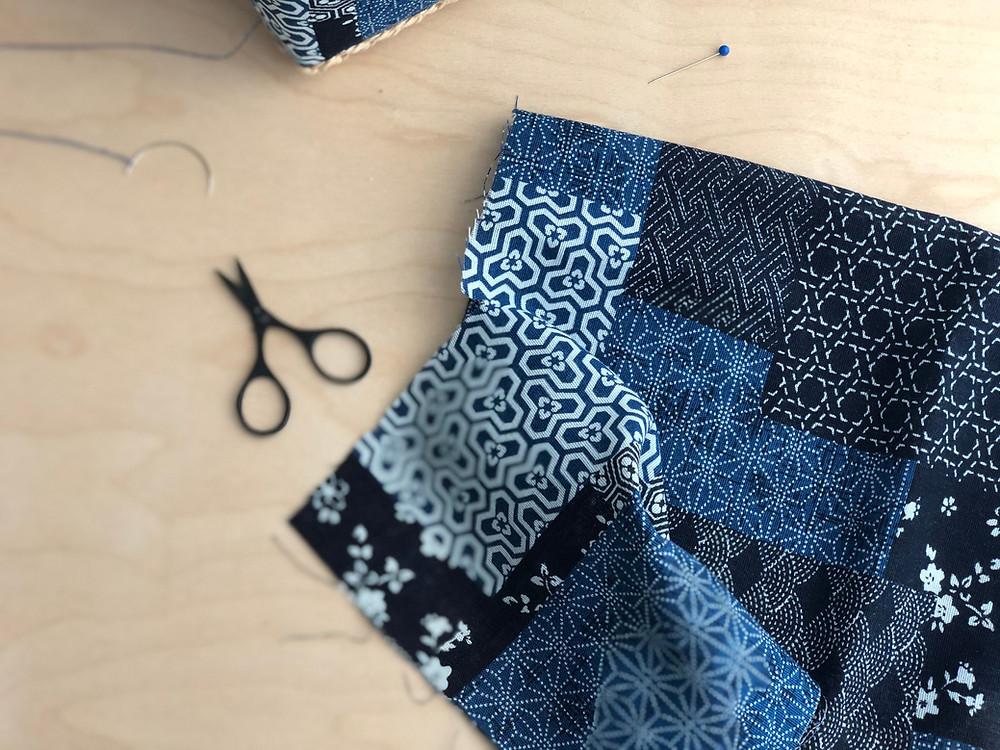 Japanese fabric scrap_Indigobird