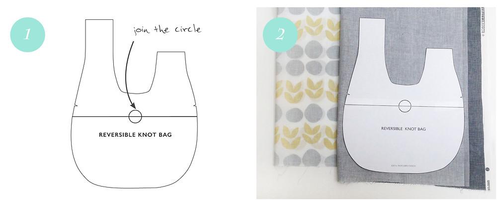 Knot Bag - step 1 & 2
