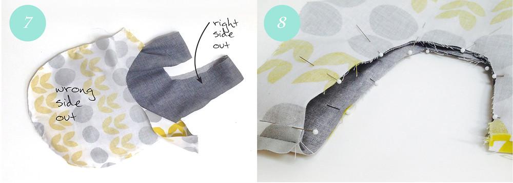 Knot bag - steps 7 & 8