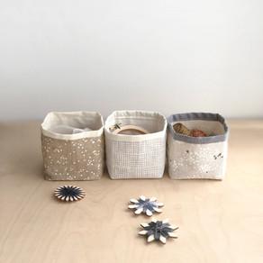 Mini Fabric Storage Bin - Free Pattern