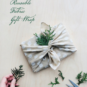 Making Reusable Fabric Gift Wrap