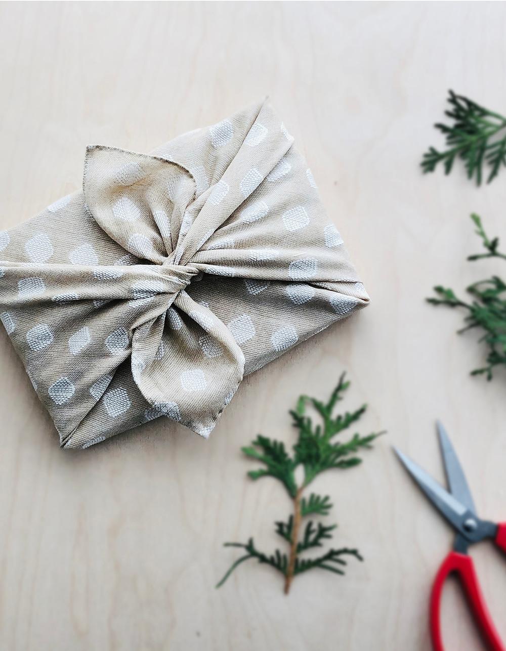 fabric gift wrap - indigobird