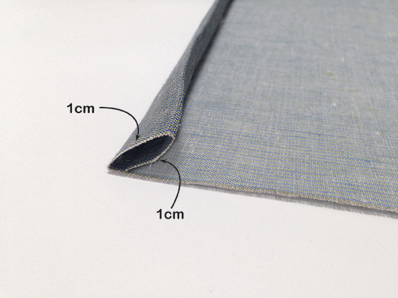 Origami Bento Bag - step 1 / Indigobird Design
