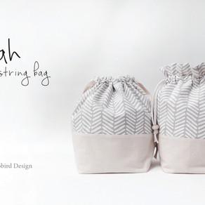 Leah Drawstring Bag with Ruffle Top