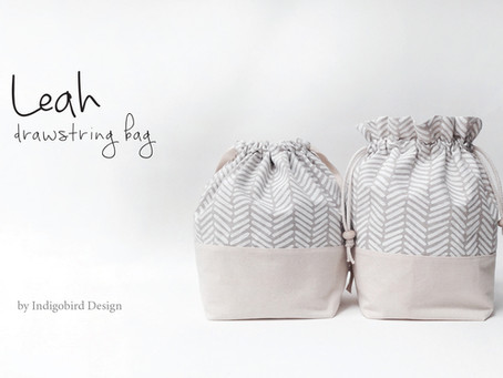 Leah Drawstring Bag with Ruffle Top